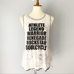 Soulcycle Gray Burnout Workout Tank Top